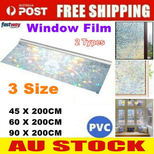 200CM 3D Decorative Window Film Static Clings Frosted Home Privacy Glass Sticker