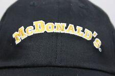 New McDonald's Restaurant Baseball Hat Hipster Costume Black Yellow Classic Logo
