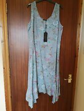 Luca Vanucci Floral Dress Asymmetric Handkerchief Size XL 16-18 BNWT
