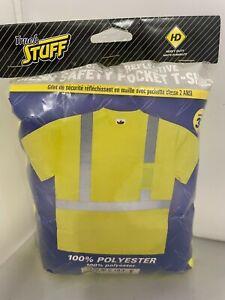 Truck Stuff Heavy Duty ANSI Class 2 Reflective Mesh safety Pocket T-Shirt New 3X