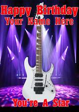 WHITE Jem chitarra cptmi 11 Happy Birthday Card A5 Personalizzate Saluti