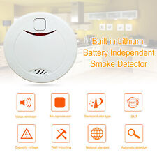 Built In Lithium Battery 10-Year Lifetime Independent Smoke Detector Smoke Alarm