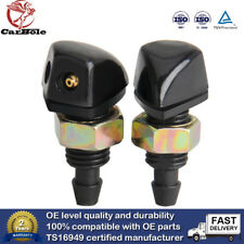 2x Car Front Windshield Wiper Washer Sprayer Jet Nozzle For Universal Vehicle