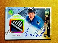 2013-14 Tomas Hertl SP Authentic Future Watch Auto Patch /100 Rookie Autograph