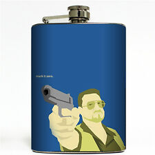 Mark it Zero Flask 8oz Steel The Big Lebowski Bowling Walter Movie Quote Gift