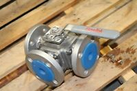 "NEW FLOW-TEK 3 WAY VALVE HIH-V-300A 1/4"" STAINLESS STEEL"