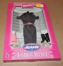 Barbie Fashion Avenue Collection Real Clothes Jeans Mattel 19179 NIB 97 121Y