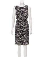 Dolce Gabbana Silk Printed Floral Lace dress IT-40 BNWOT
