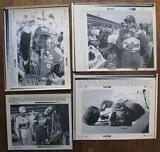4 AP Laser Photos: EMERSON FITTIPALDI, Kyle Petty & Dale Earnhardt, B. Jourdain