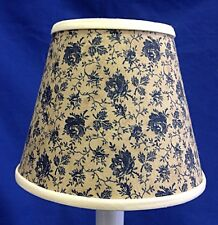 Blue Roses Tea Stain Chandelier / Electric Candle Handmade Lampshade lamp shade