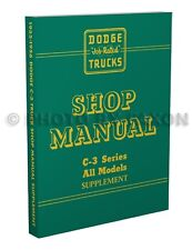 1955 1956 Dodge Truck Repair Shop Manual Supplement C3 Pickup Panel Power Wagon
