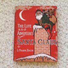 Vintage Antique First 1st Edition RARE Frank Baum Santa Claus 1902 colors!!!