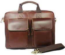 "High Class Men Italian Real Leather Shoulder Bag Messenger 15""laptop Briefcase"