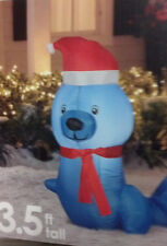 CHRISTMAS SANTA BLUE SEAL 3.5 FT  AIRBLOWN INFLATABLE