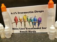 SALE ! Mite/Lice Treatment 0.1% Ivermectin Drops for Small Birds