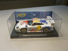 NEW FLY A52 PORSCHE 911 GT1 EVO DAYTONA 1998 1/32 SCALE SLOT CAR IN DISPLAY CASE