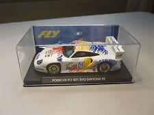 NEW FLY A52 PORSCHE 911 GT1 EVO DAYTONA 1998 1/32 SCALE SLOT CAR IN DISPLAY CASE