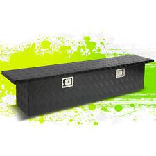 """63""""X12""""X14"""" BLACK ALUMINUM WATER RESIST PICKUP TRUCK TRUNK TOOL BOX STORAGE+LOCK"""