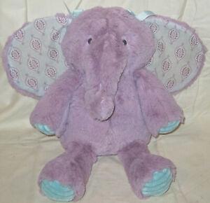 "Lambs & Ivy Lavender Purple  Elephant Plush 15"" Stuffed Animal Super Soft Lovey"