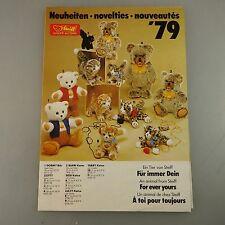 Steiff Neuheiten Katalog 1979 - aus alten Bestand druckfrisch  (43273)