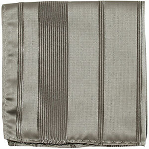 New men's polyester woven striped silver hankie pocket square formal party