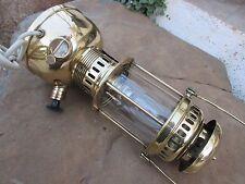 VINTAGE BRASS LAMP LANTERN PETROMAX GENUINE GENIOL GERMANY TO ELECTRICAL CHANGE