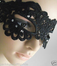 MONSOON BLACK LACE DIAMANTE MASQUERADE MASKED BALL PROM PARTY FANCY DRESS MASK