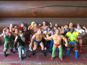 Lot 19 WWF LJN 1980's Titans Sports Pro Wrestling Rubber Action Figures