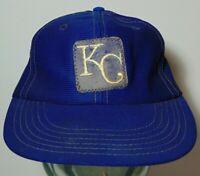 Vintage 1969 1970s KC KANSAS CITY ROYALS MLB BASEBALL PATCH HAT CAP SIZE MEDIUM