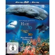 3D BOX-HAIE/DELFINE UND WALE/WUNDERWELT OZEANE - 3 BLU-RAY NEUWARE