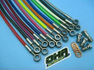 OHA Stainless Braided Clutch Line Kit for Suzuki GSXR1100 GSXR 1100 1986-1988