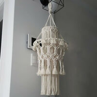 Smaller Honey Bear Lamp Macrame Lamp Shade  Assorted Colors Available in Shade