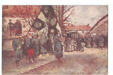 GUERRE 1914 ,WW1 , TABLEAU DE JF BOUCHOR , DRAPEAU ALLEMAND DU 87 EME REGIMENT