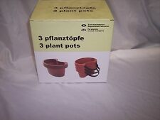 Tie on Pipe Flower Pots Set Of 3, Decorate Your Drainpipes,  Plastic