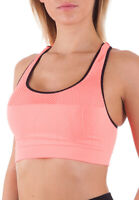 Bellissima Women's Sports Bra Workout Yoga Racerback Double Layer Seamless Bras