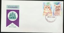 Cats First Day Cover Grenada Maine Coon and Selkirk Rex Cat Stamps Unaddressed