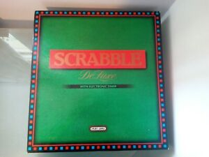 Scrabble Deluxe Edition by Spears Games - Vintage Board Game - No Timer