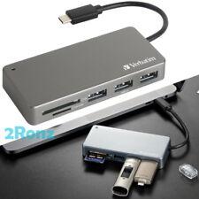 Verbatim USB-C 3.1 Card Reader Hub USB 3.0 MicroSD SD SDHC SDXC