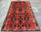 Authentic Antique Hand Knotted Shrz Wool Area Rug 7.5 x 4.6 FT (20297 HMN)