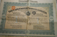 1906 ACTION THE CAPE COPPER COMPANY @ SUP DECO  @