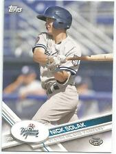 Nick Solak Tampa Bay Rays 2017 Topps Pro Debut