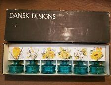 Dansk Designs 6 Pack of Small Miniature Glass Vases