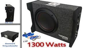 OE Audio 25.4cm 25cm 1300W Actif Caisson de Basse Voiture Slim Compact Modèle