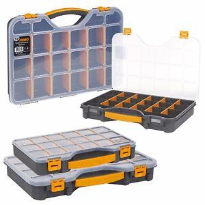 DIY 20 Compartment Parts Storage Organiser Cabinet Screws Carry Case Tool Box