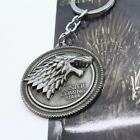 Keychain / Porte-clés - Game of Thrones House Stark Head - Silver