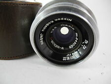 NIKON S S2 S3 SP LENS 35MM/2.5 CHROME IN PERFECT SHAPE PERFECT GLASS CRISP LOOK