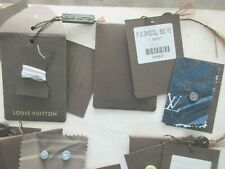 RARITY 5 POCHETTES CHEMISERIE BOUTONS  LOUIS VUITTON ORIGINAL 11X8 CMS
