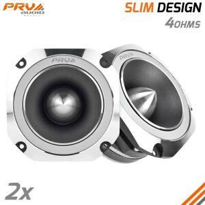 2x PRV TW700Ti-4 SLIM Bullet 4 inch Pro Shallow Tweeters 4 Ohms Car Audio 200W