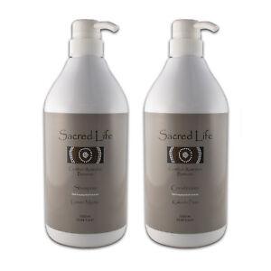 Sacred Life : Lemon Myrtle Shampoo + Kakadu Plum Conditioner 1000ml Pump Bottles