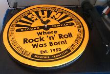 "SUN RECORDS slipmat patinador turntable mat 12"" LP Improve sound elvis cash rock"